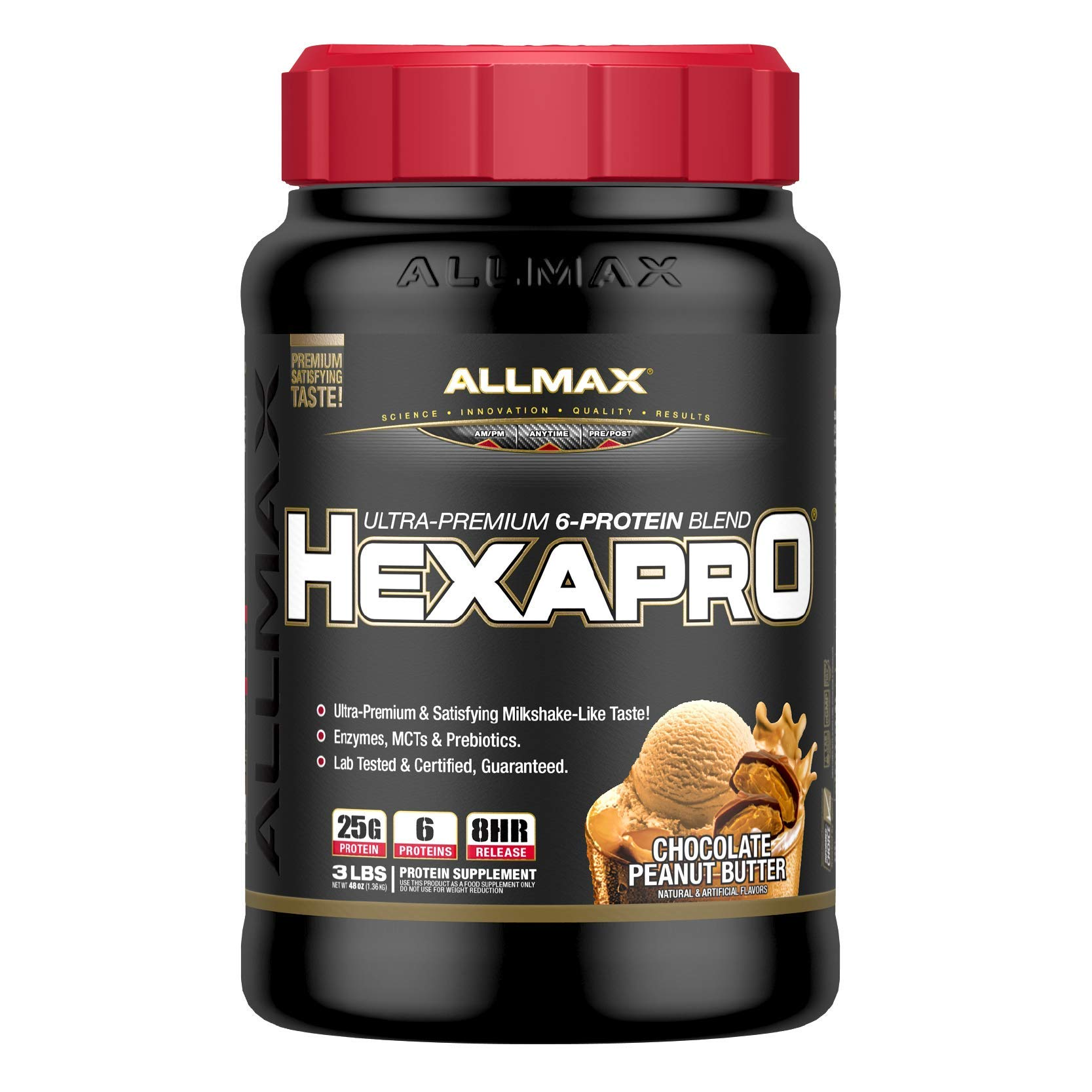 ALLMAX Nutrition Hexapro Ultra-Premium Protein Blend, Chocolate Peanut Butter, 3 lbs