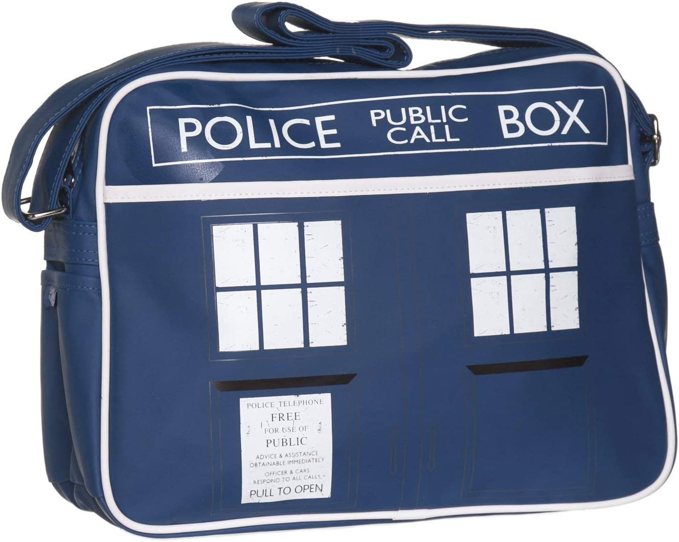 Blau Doctor Who Tardis Messenger Bag