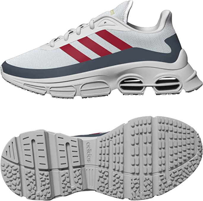 Adidas QUADCUBE J, Zapatillas Running Unisex Adulto, Azul (Orbit Grey/Scarlet/Legacy Blue), 39.33 EU: Amazon.es: Zapatos y complementos