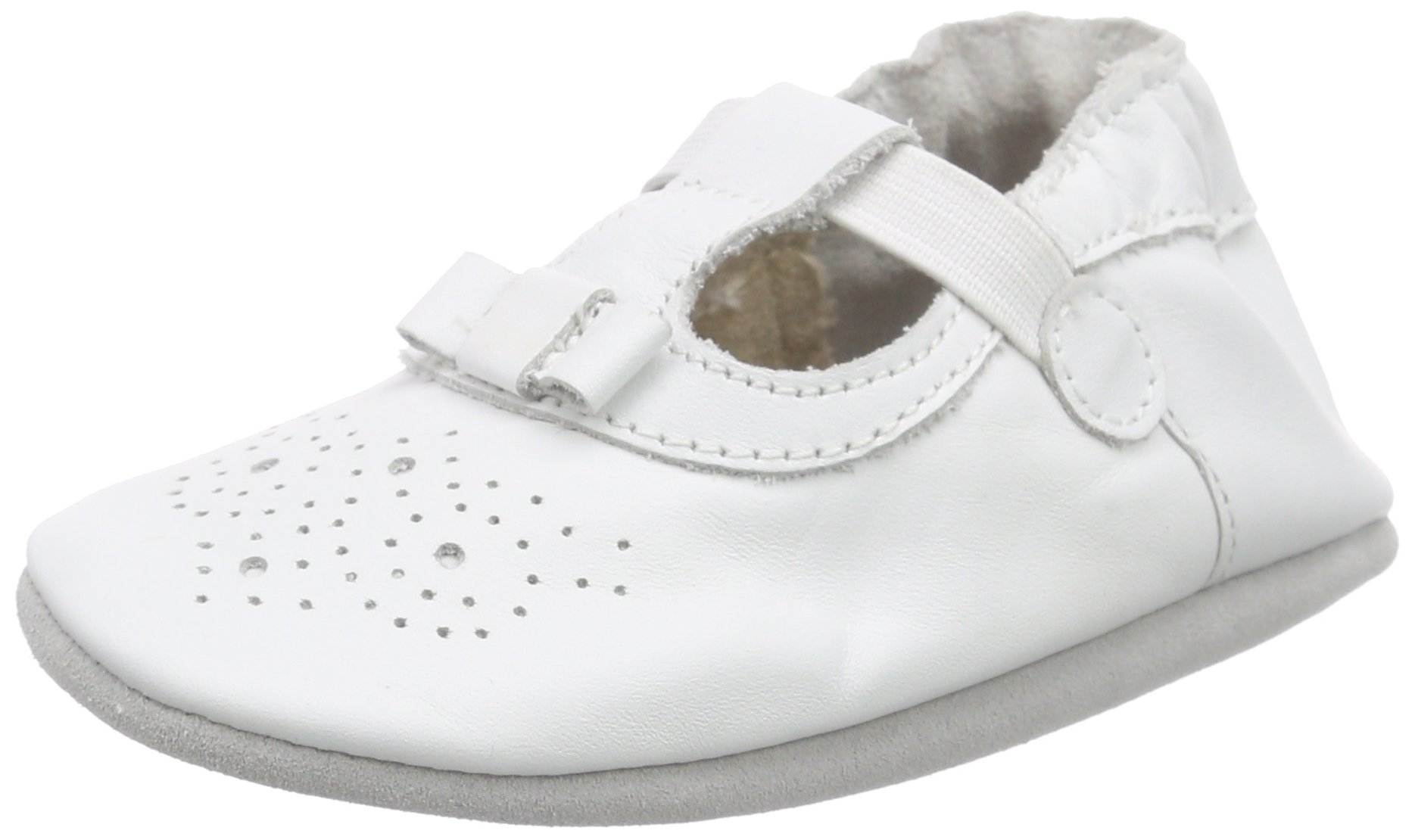 Robeez Pretty Girl Baby Girls Birth Shoes White White 3