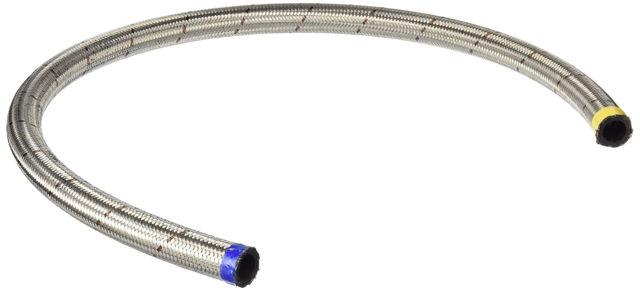 Earl's 403012 Perm-O-Flex Stainless Steel Braid -12AN Rubber Hose - 3 Feet