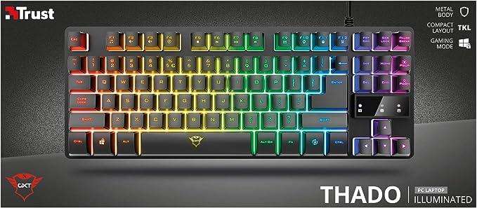 Trust Gaming Teclado Gamer TKL GXT 833 Thado Teclado ...