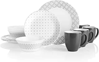 product image for Corelle Boutique Farmstead Grey 16-Piece Dinnerware Set, Service for 4