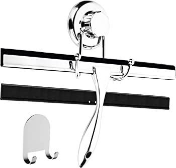 HASKO Chrome Plated Stainless Steel Squeegee, Corrosive-Free, Replacement Blade, Beautiful Finish,12-Inch