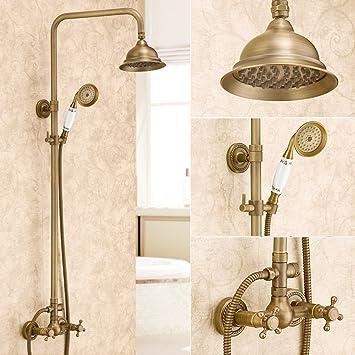 AGOAIX-Shower Dusche/Bronze Retro Badezimmer Deluxe Blume Dusche Set ...