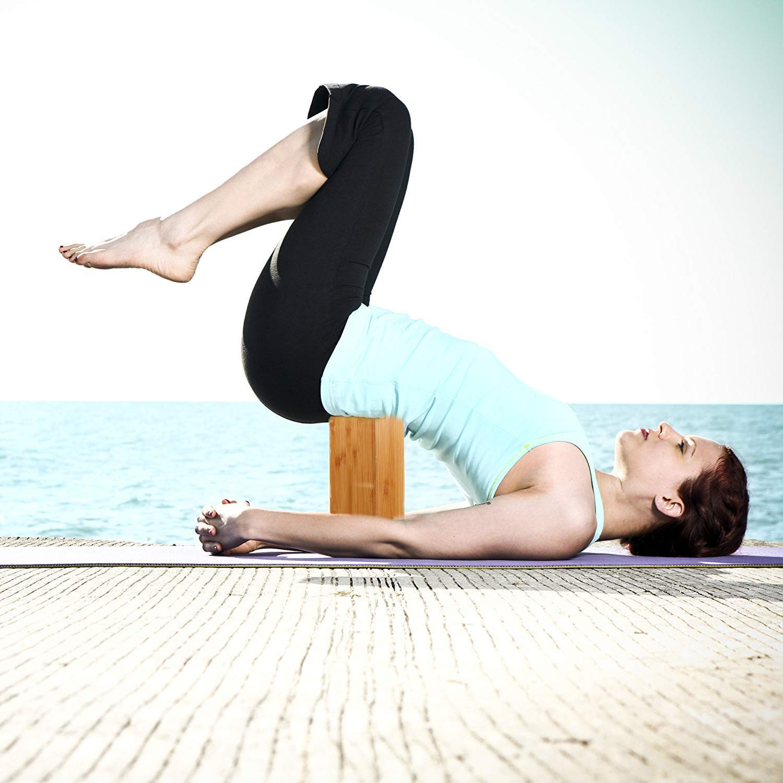 Kagni Bloques de Yoga de Bambú de Alta Densidad 2 Piezas ...