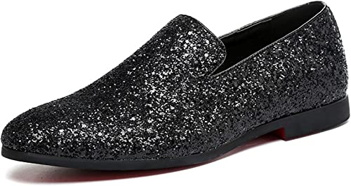 Men Loafer Metallic Textured Slip-on