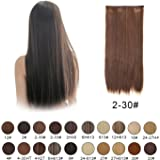 """BARSDAR 23"""" Straight 3/4 Full Head One Piece 5 clips in on Synthetic Hair Extensions Hair pieces for Women"""