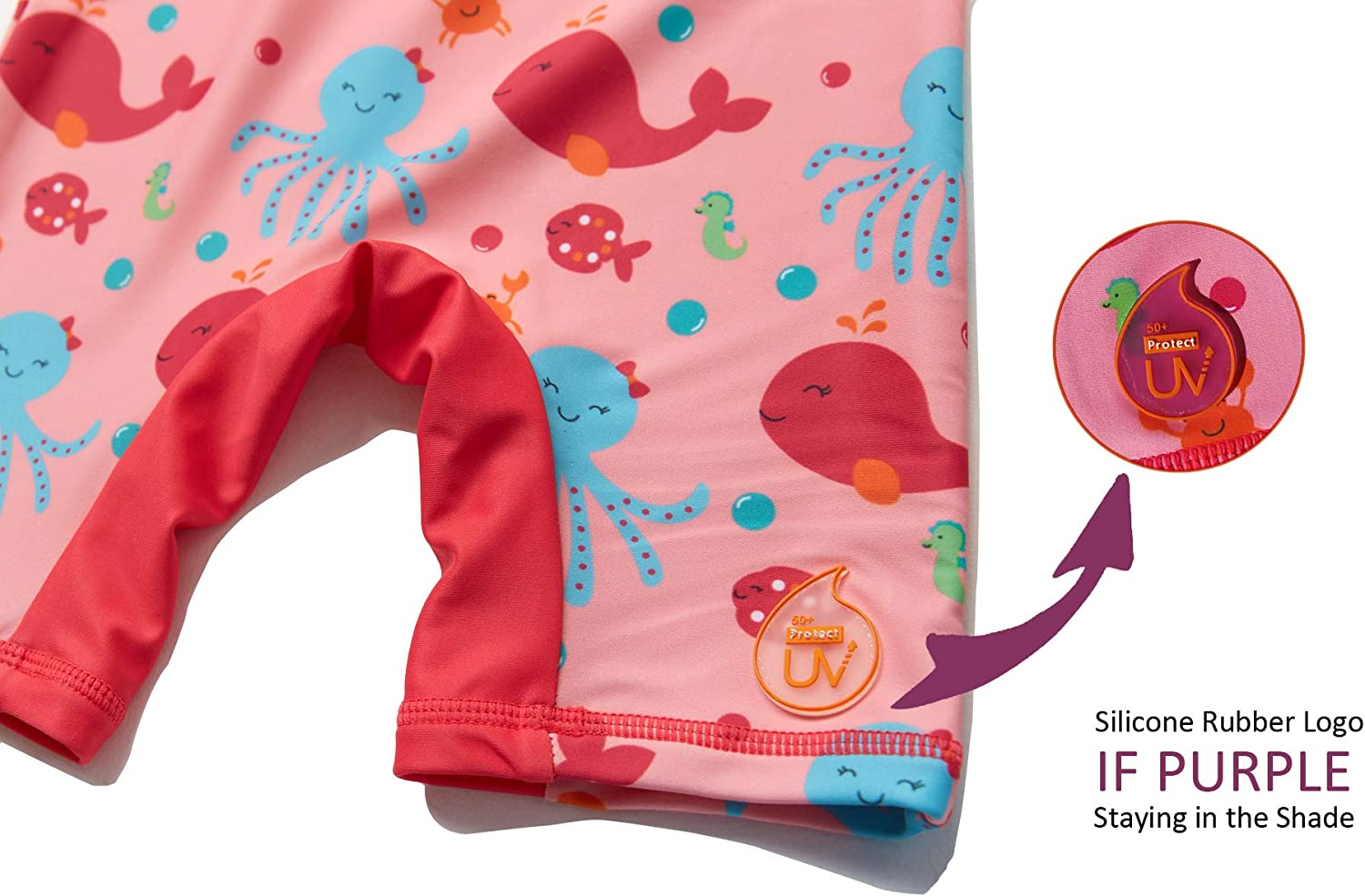 BONVERANO One Piece Swimsuit for Baby Girls UPF50 Sun Protection Sunsuit