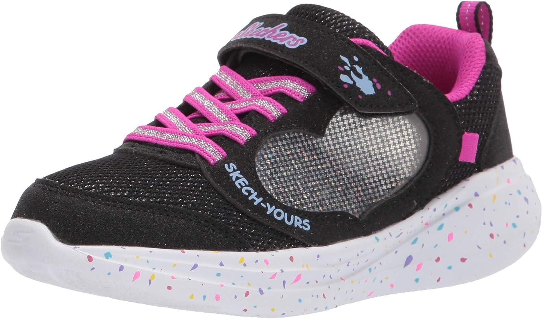 Skechers girls Skechers Sport, Skechers Light Weight, Skechers Sneaker, Black, 10.5 Little Kid US