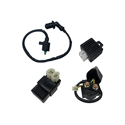 SHUmandala GY6 Ignition Coil Solenoid Relay 6 PIN CDI Voltage Regulator for 50cc 125cc 150cc Chinese ATV Go Kart Dirt Bike Scooter Moped Taotao Jonway SunL Roketa: Automotive