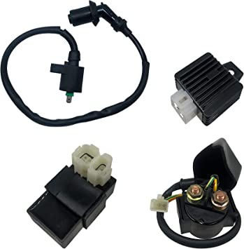 Hity Motor 6 PIN AC CDI Ignition Coil Solenoid Relay Voltage Regulator For GY6 50cc 125cc 150cc ATV Scooter Moped
