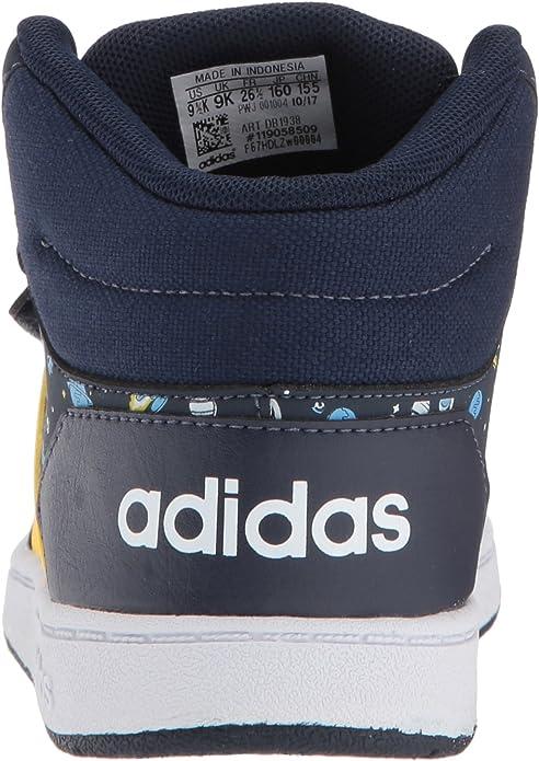 Boys Genuine Adidas Stylish Lace Hoops Mid 2.0 Trainers Footwear Size C10-2