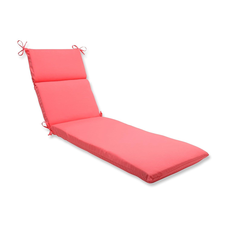 Pillow Perfect Outdoor Fresco Melon Chaise Lounge Cushion