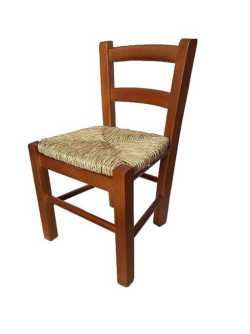 Sedute Per Sedie Legno.Toto Piccinni Sediolina Baby In Legno Seduta Paglia Sedia Piccola Per Bambino Metodo Montessori Colorata Noce