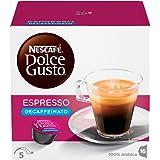 NESCAFÉ DOLCE GUSTO ESPRESSO DECAFFEINATO Caffè espresso decaffeinato 6 confezioni da 16 capsule (96 capsule)