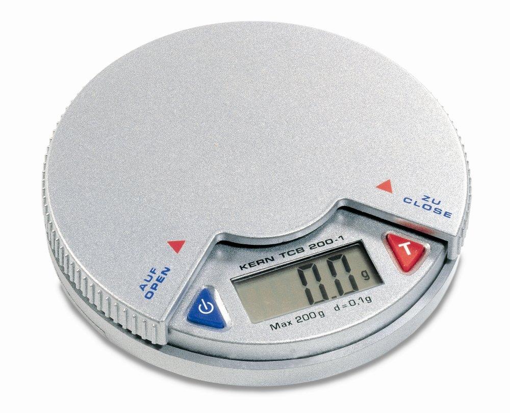 Bilancia tascabile [Kern TCB 200 –  1] –  fino a 0,1 G di precisione, portata max. 200 G 1G di precisione portata max. 200G TCB 200-1