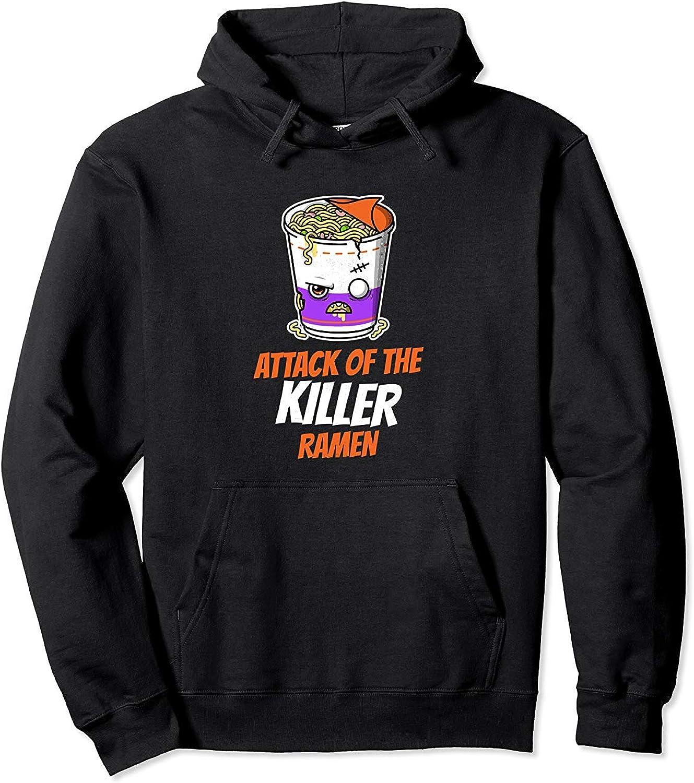 Balinh2 Sweatshirt Hooded Jacket Attack of The Killer Ramen Japanese Funny Horror
