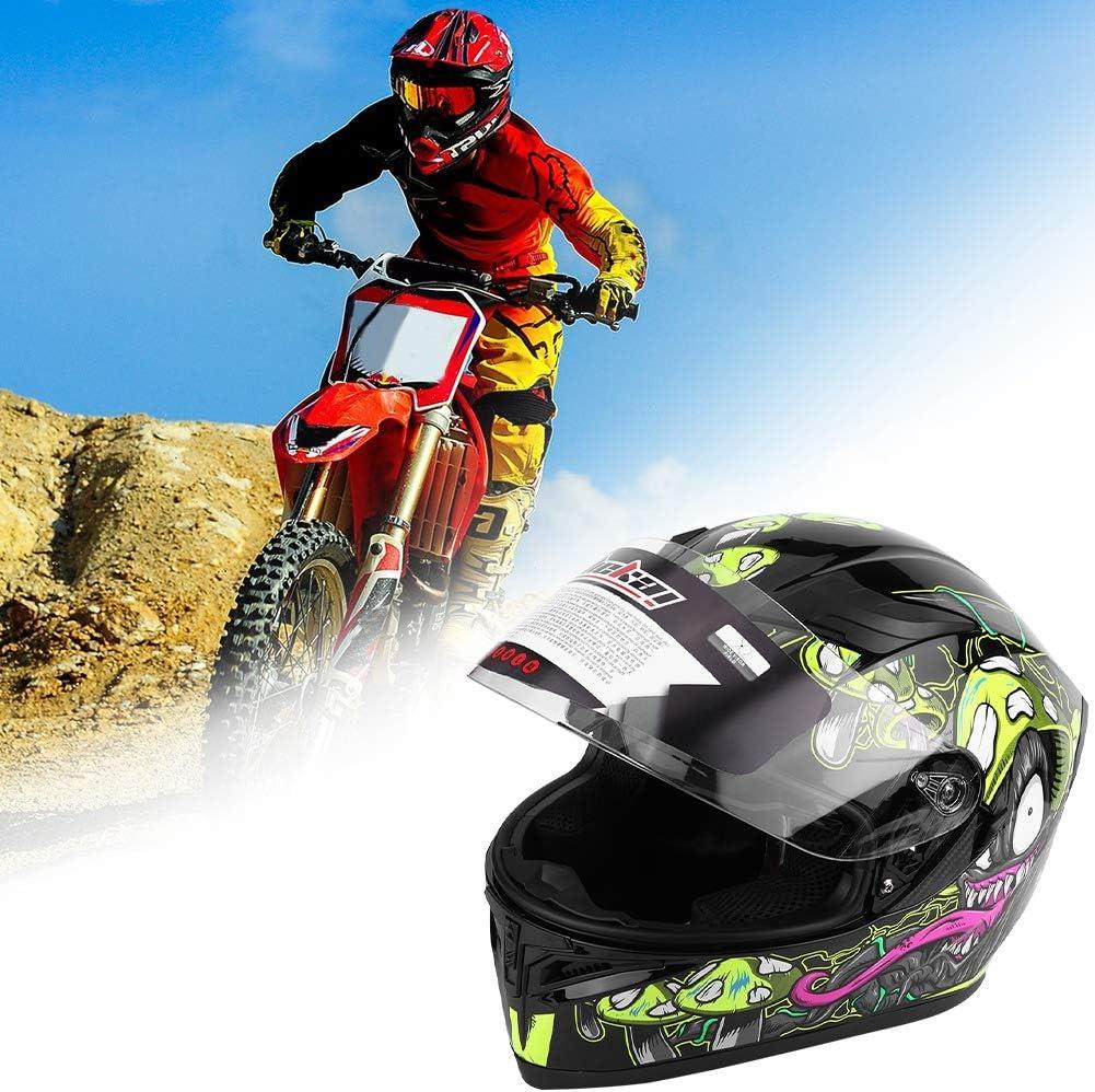 M Integral Helm f/ür Morrad,Universal Adult Full Face Motorrad Fahrrad Sicherheitshalbhelm Double Lens Anti-fog