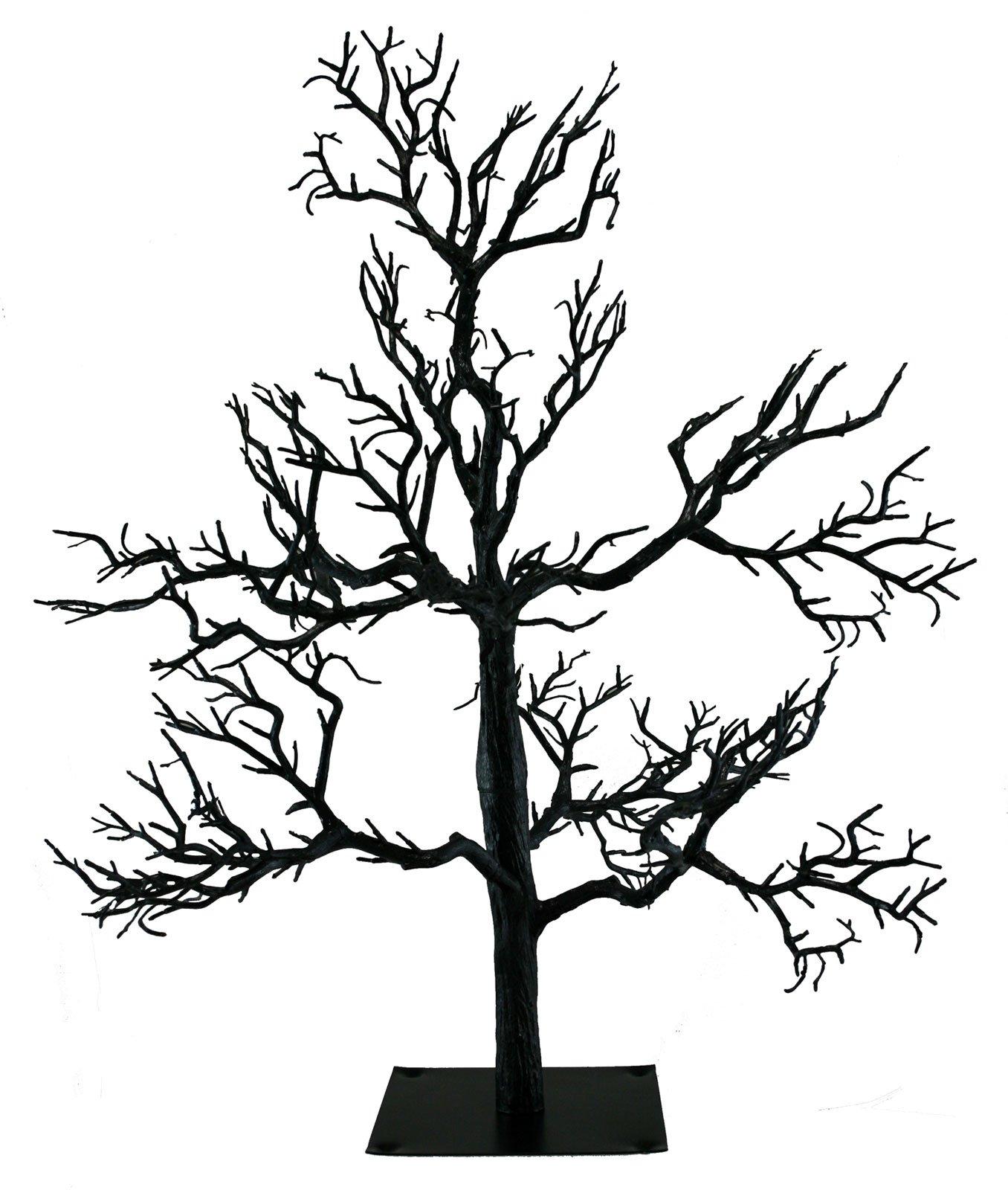 Kurt Adler Black Spooky Halloween Tree [OE21 HW0522] by 7 Halloween Spooky Décor