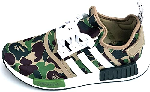 adidas x BAPE NMD R1 Camo Trainers Sneakers BA7326 100