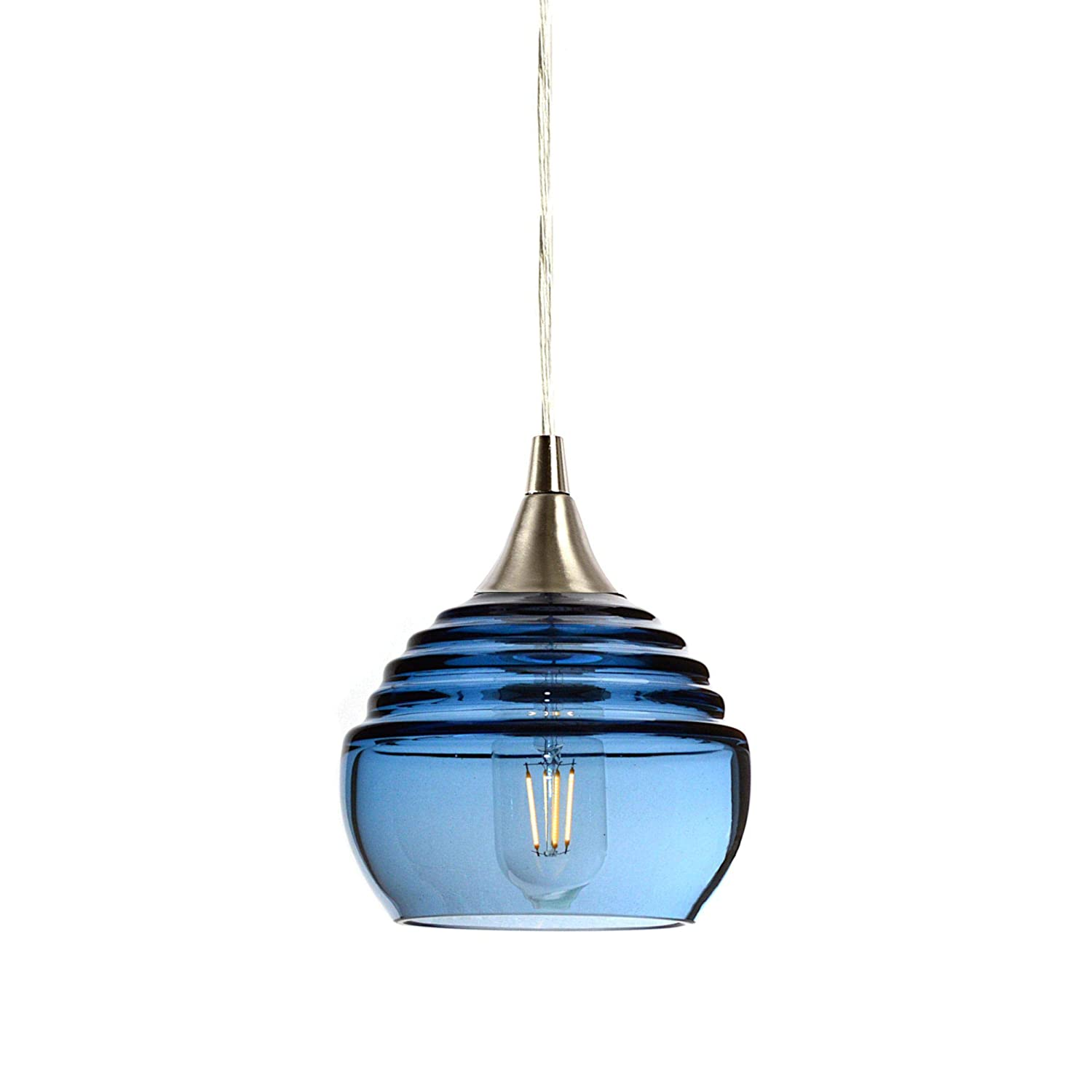 Bicycle Glass Lucent Single Pendant Light: Form No. 302a
