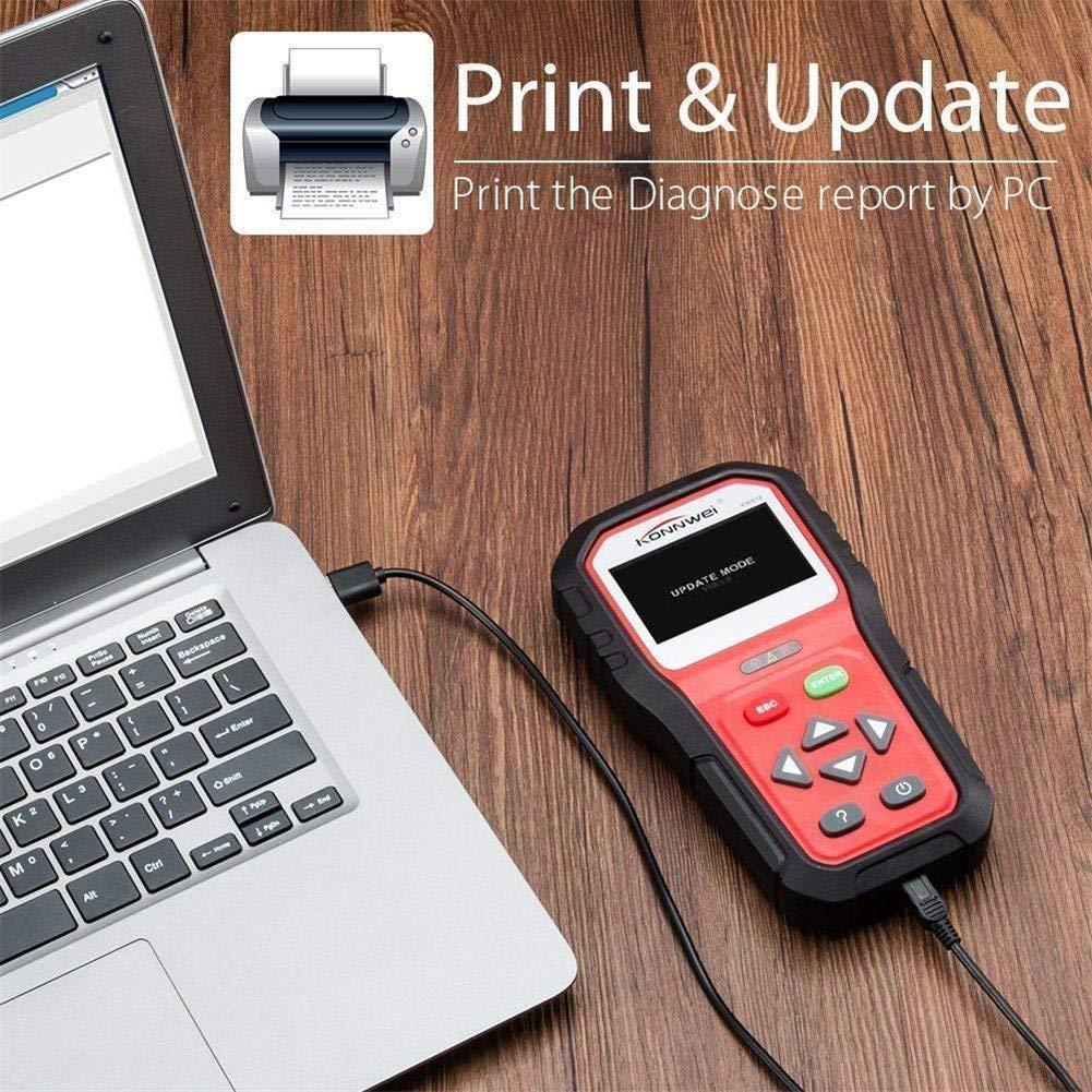 KONNWEI OBD2 Scanner Professional Car OBD II Scanner Auto Diagnostic Fault Code Reader Automotive Check Engine Light Diagnostic O2 Sensor EOBD Scan Tool for All OBDII Protocol Cars Since 1996 (KW818) by KONNWEI (Image #5)