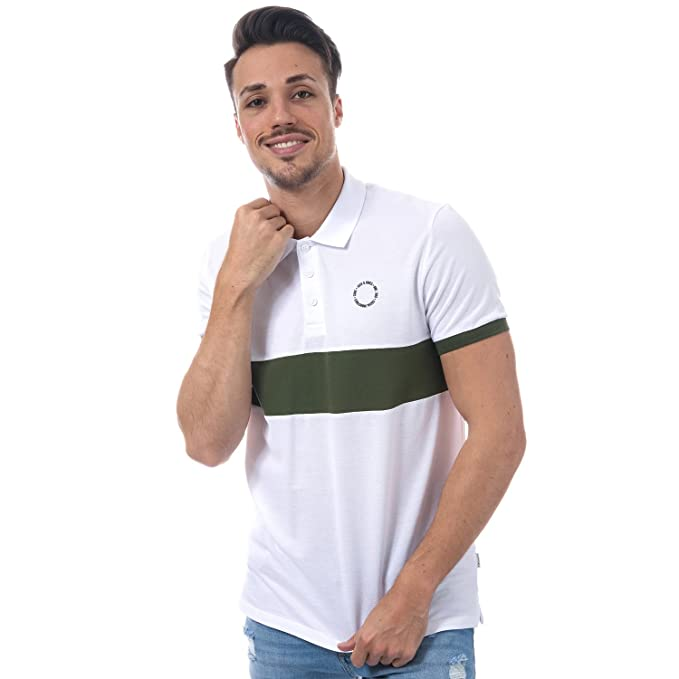 JACK & JONES - Polo - para Hombre Blanco Blanco Large: Amazon.es ...