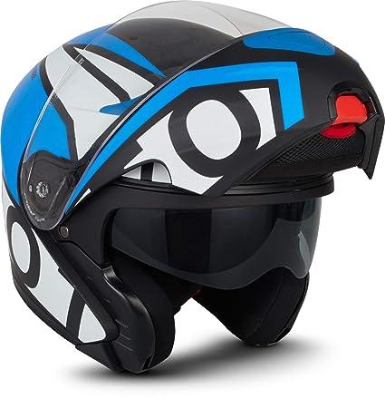 53-62 cm MOTO HELMETS/® F19 Gloss Black /· Motorrad-Helm Klapp-Helm Modular-Helm Flip-up Integral-Helm Motorrad-Helm Roller-Helm Full-Face Cruiser /· ECE Sonnenvisier Schnellverschluss bolsillo XS-XL