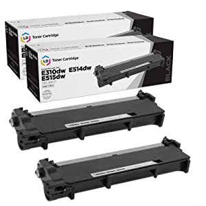 LD Compatible Toner Cartridge Replacements for Dell 593-BBKD P7RMX High Yield (Black, 2-Pack)