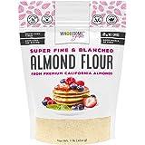 Wholesome Yum Premium Super Fine Blanched Almond Flour (16 oz / 1 lb) - Gluten Free, Non GMO, Keto Friendly Flour Substitute