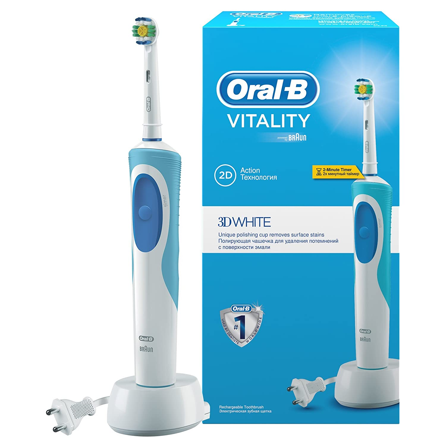 Brosses � dents �lectriques ORAL B VITALITY PRECISION CLEAN D12513 BLEU