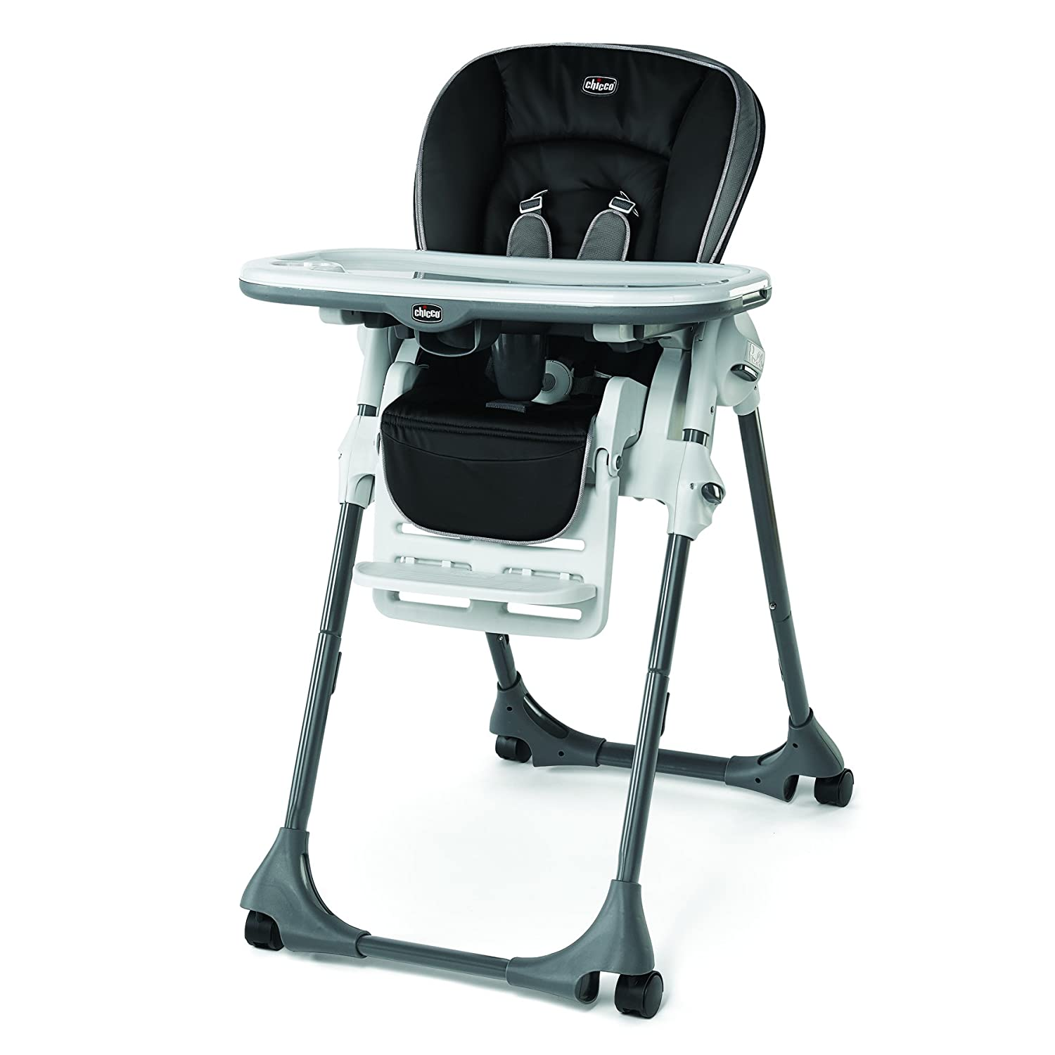 Chicco 7907751 Polly Single-Pad High Chair Orion, Black