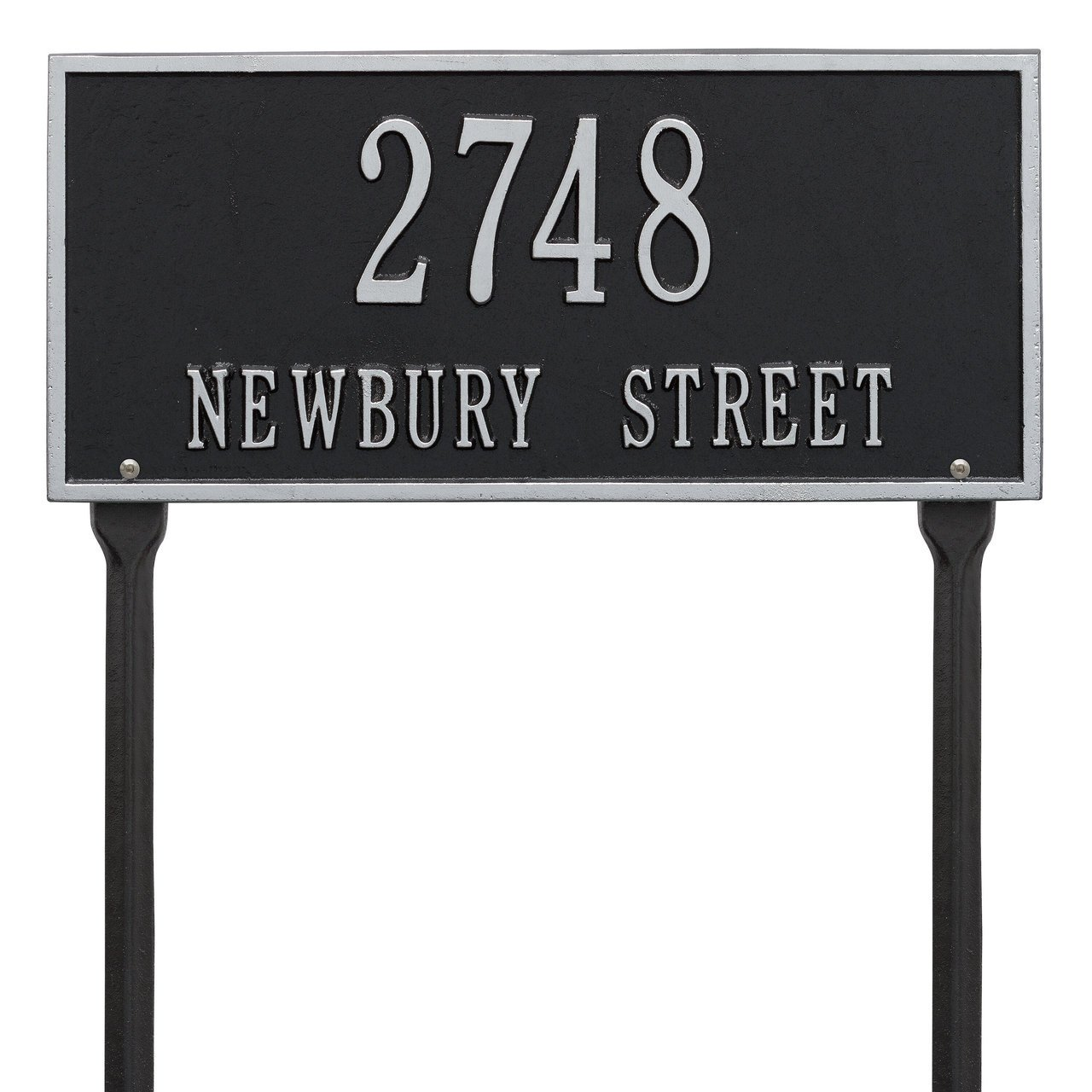 Custom Hartford LAWN Address Plaque 2 Lines 16''W x 7''H
