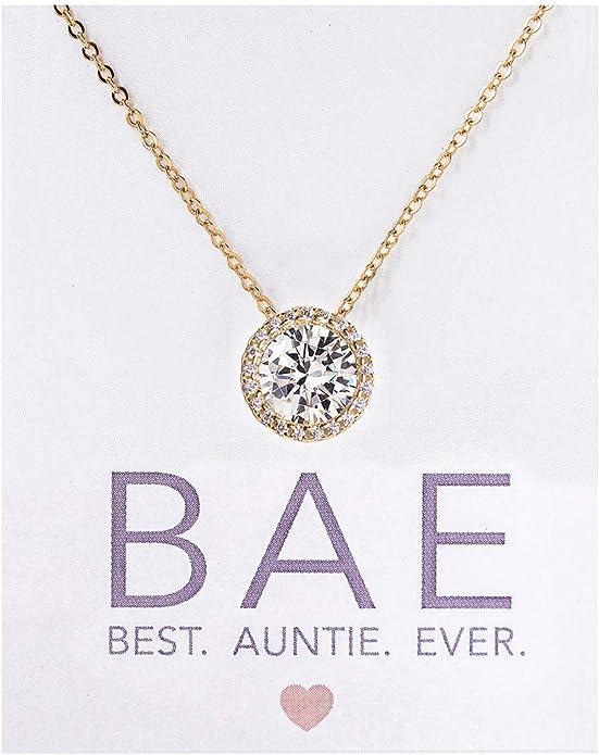 Silvercartvila Mothers Day Gift Jewelry Mom Charm Letter Silver Diamond Heart Pendant Necklace