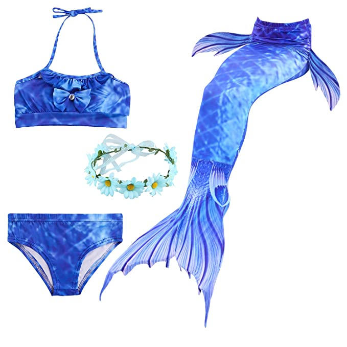 Backbuy 2018 Girls Shark Cosplay Traje Traje de baño Sirena ...