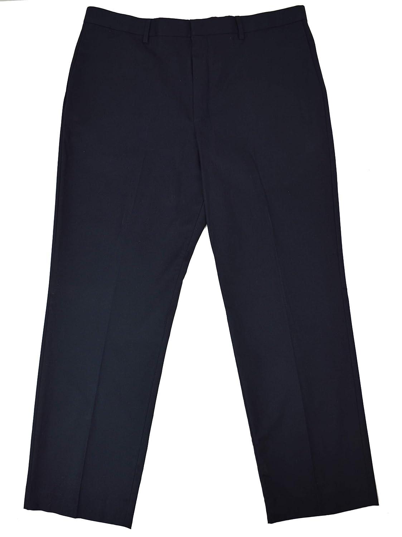 Banana Republic Mens Non-Iron Standard-Fit Navy Blue Dress Pant 38x32