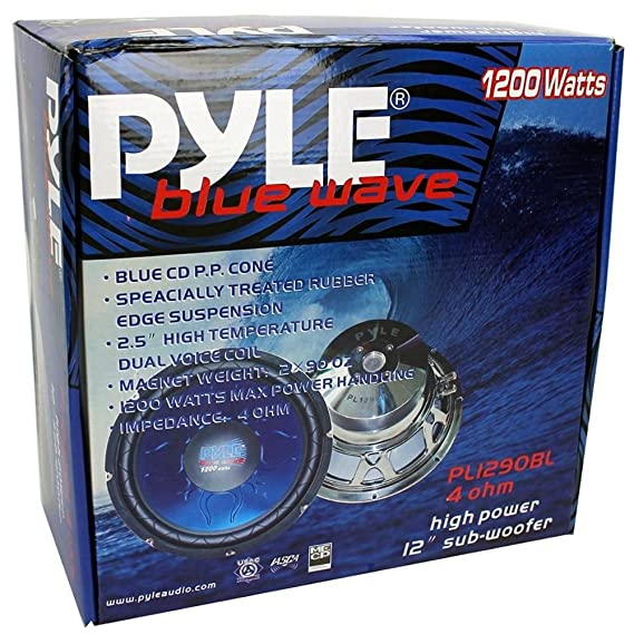 Ii Double Subwoofer Dvc Ohm Pyle 4 Sub Blue Wave Pl1290bl Bobine 4 0wOvnNym8P