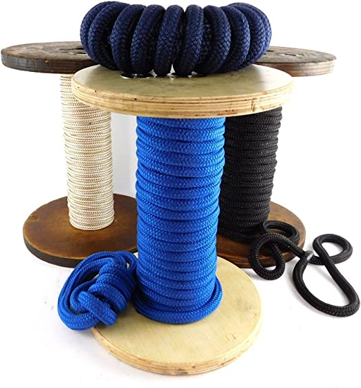 anchor rope dock lines 1//2 x 50/' premium Polyester line