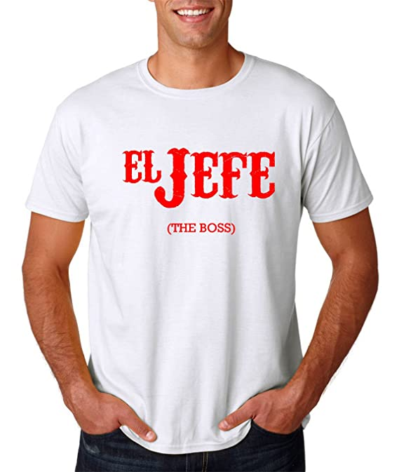 Amazon.com: AW Fashions El Jefe (The Boss) - Cinco De Mayo Tee - Funny Mexican Mens T-Shirt: Clothing