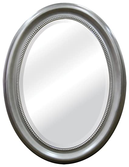 Amazoncom Mcs Beaded Oval Wall Mirror 225x295 Inch Overall Size
