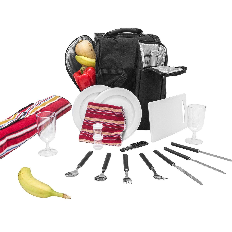 *Inspirion Picknick Rucksack Diabolo inklusive Vollausstattung und integr. Kühltasche für 2 Personen*