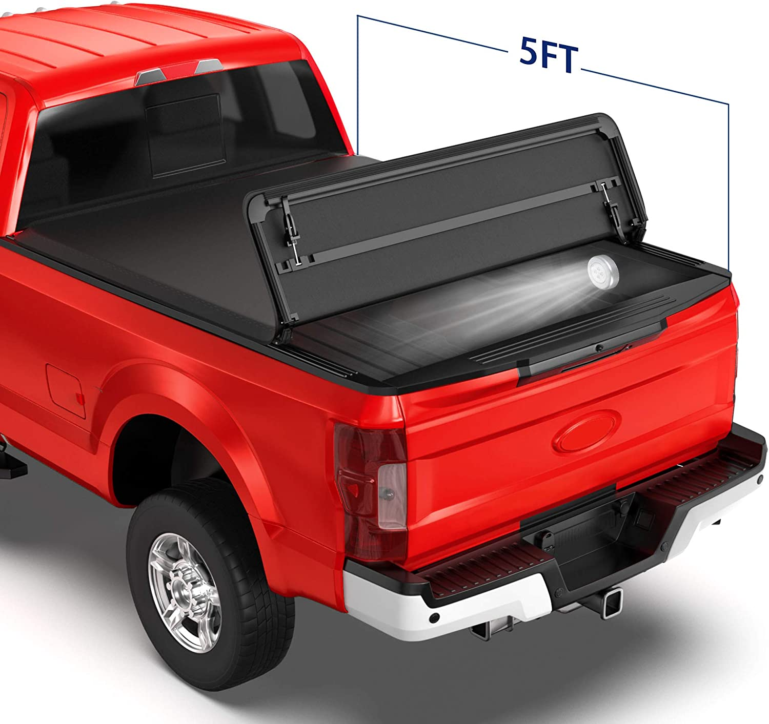 MOSTPLUS Tri-Fold Soft Folding Jeep Gladiator 2020-21 Bed Cover