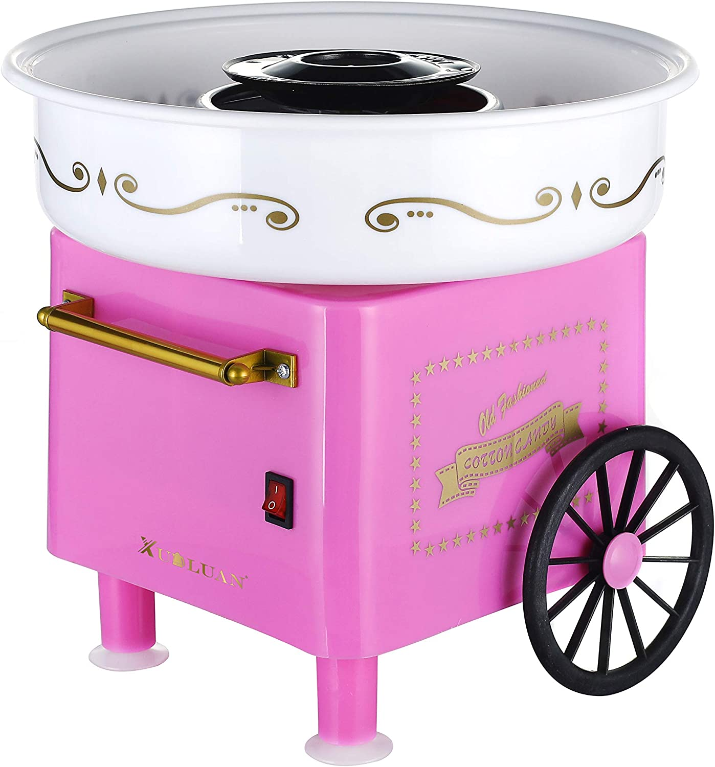 XUALUAN Cotton Candy Machine- Small Retro Cotton Candy Maker Suitable for Home Use-hard Candy and Rock Candy