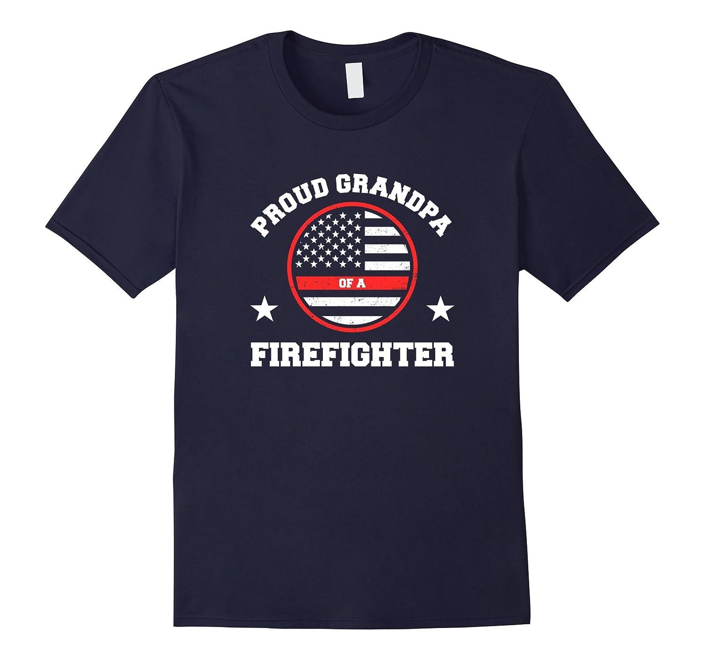 Mens Proud Grandpa Of A Firefighter T-Shirt-T-Shirt