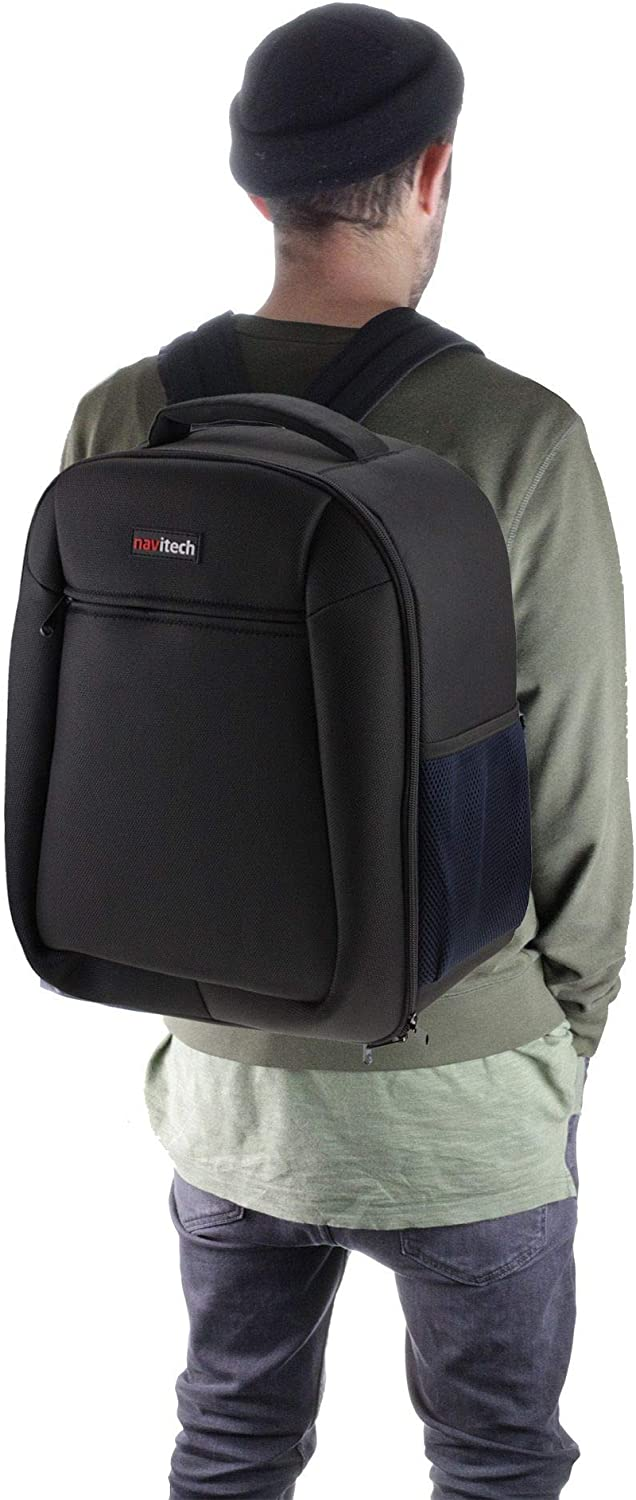 Navitech Rugged Black and Blue Backpack//Rucksack Camcorder Case Compatible with The Canon EOS C700 GS PL