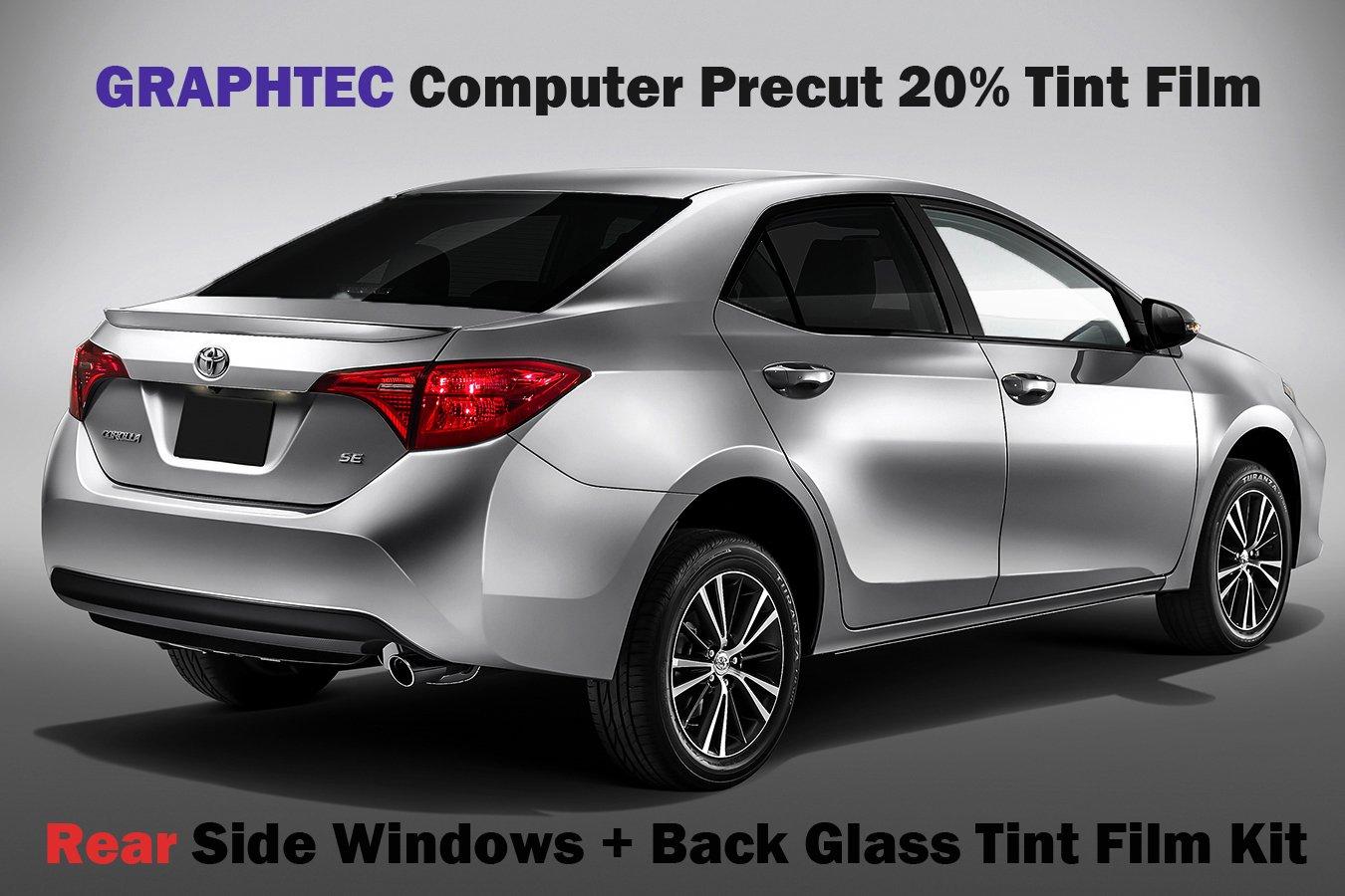 Amazon 14 16 Toyota Corolla 20 VLT Black Rear Side Window W Back Glass Tint Film Precut Kit Automotive