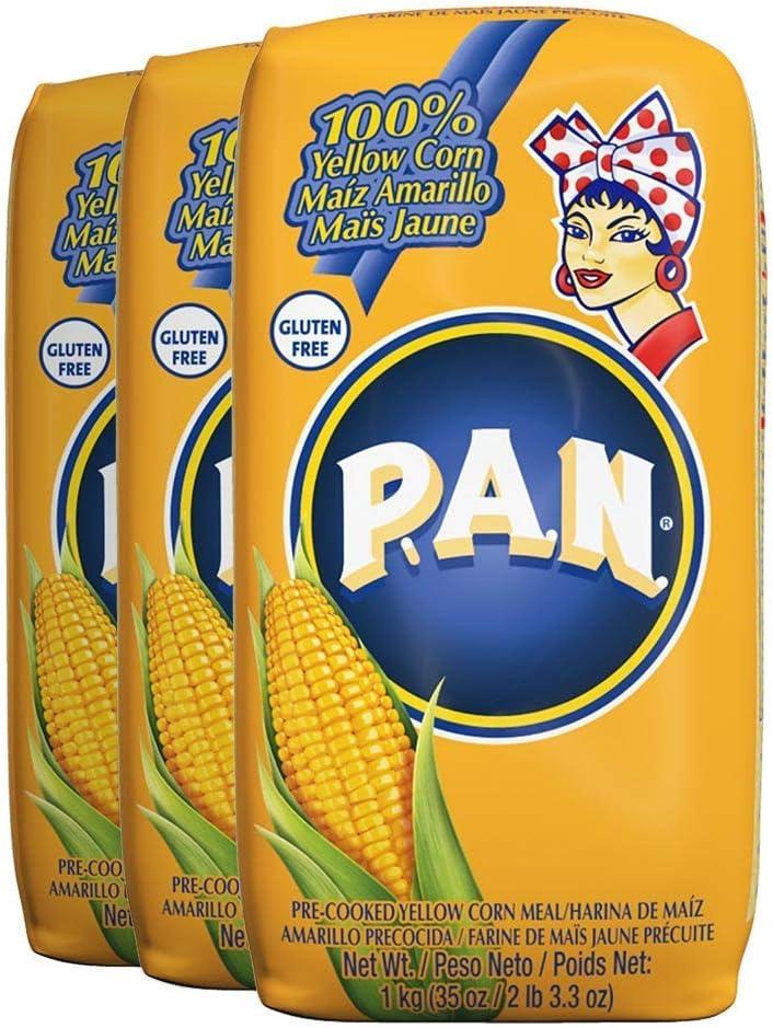 Harina PAN 3 PACK Yellow Corn Meal Flour 3 x 1 Kg Venezuela ...