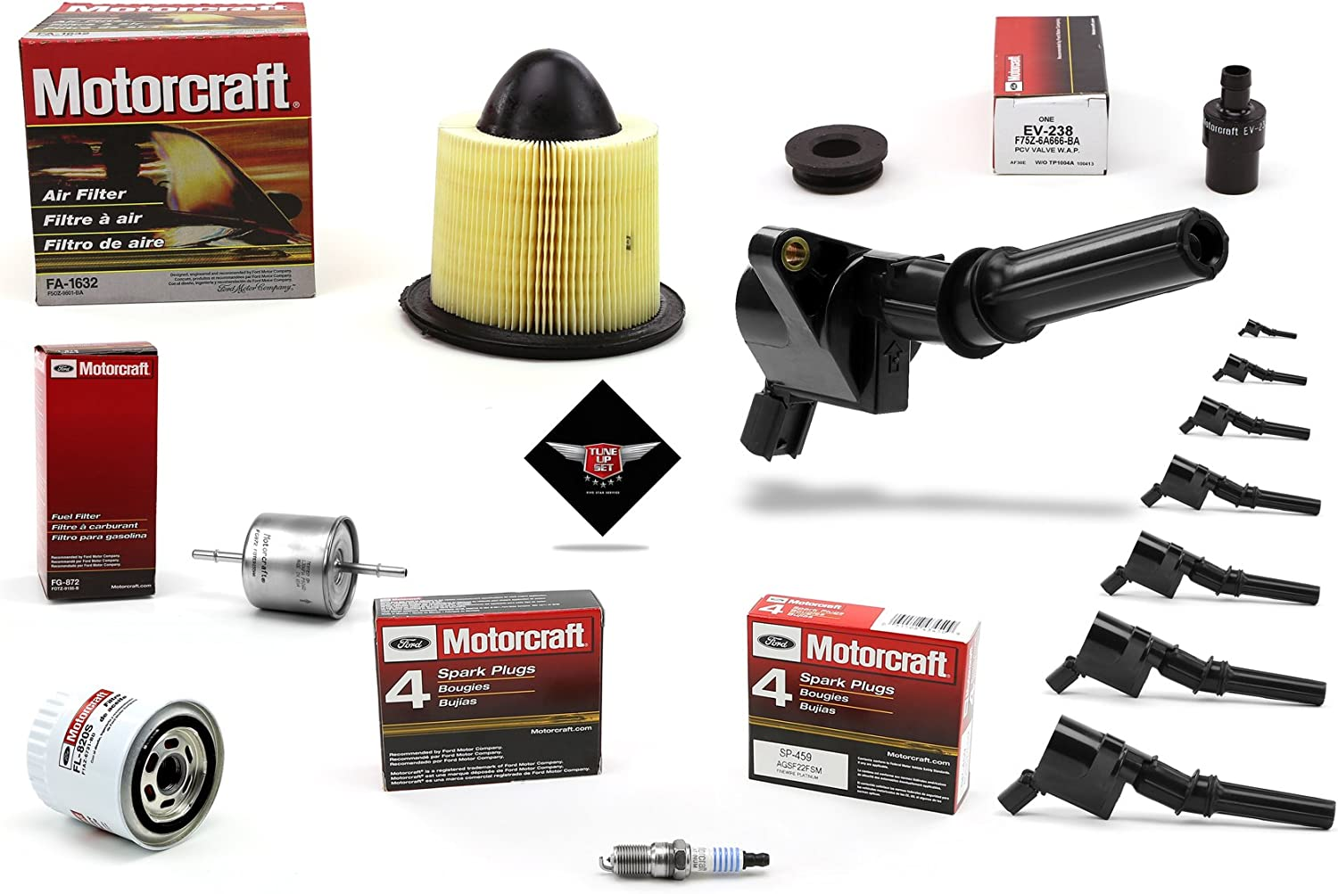 Tune Up Kit 1997 Expedition V8 5.4L Heavy Duty Ignition Coil DG508 ...