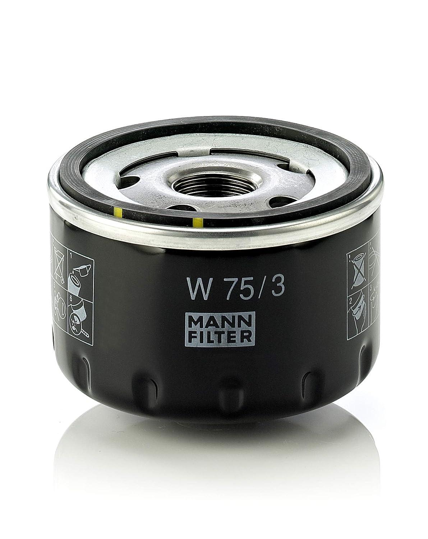 MANN-FILTER W 75/3 Original Filtro de Aceite, para automóviles y ...
